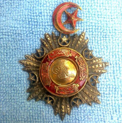 Medalha Otomana concedida aos militares ou heróis de guerra até 1851.